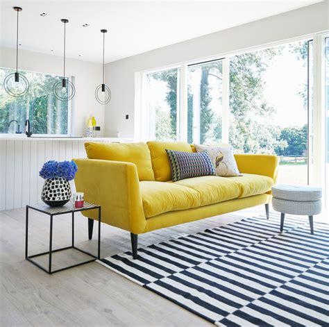 yellow velvet sofa sophie robinson
