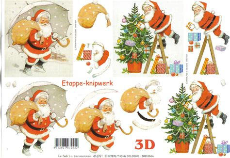 Le Suh Decoupage - le suh santa sack in snow 3d step by step decoupage 906