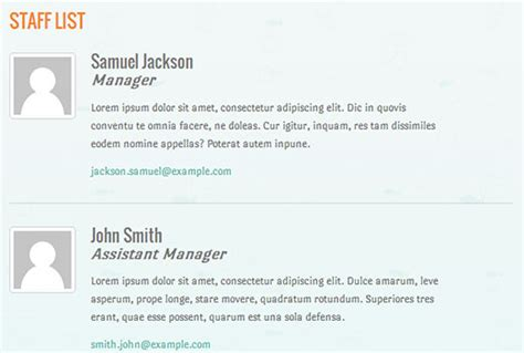 staff list template how to create a simple staff list in