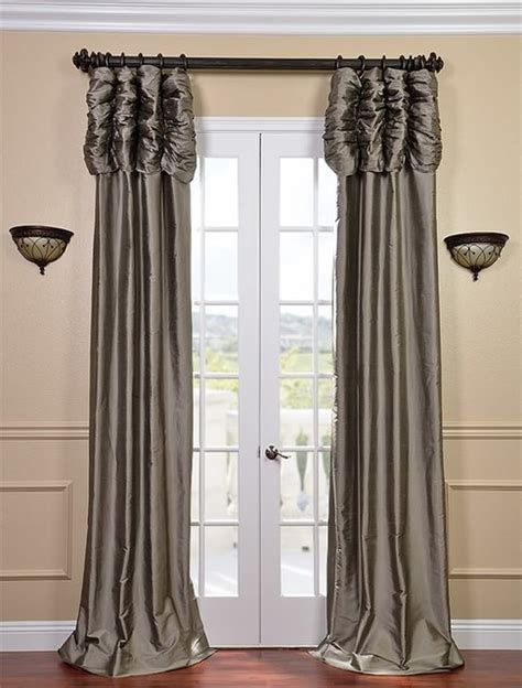 silver silk curtains ruched silver grey thai silk curtain traditional
