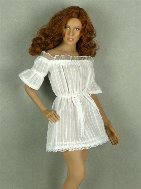 phicen hot toys kumik nouveau toys sexy female white lace romper dress ebay