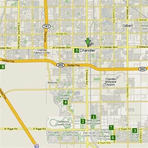 map of chandler arizona arizona golf golf courses scottsdale golf
