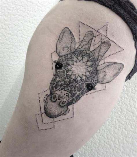 geometric giraffe tattoo giraffe mandala by medusa lou tattoo artist medusaloux