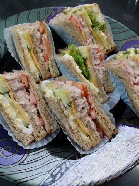 cara membuat roti sandwich sardin goreng sandwich chenta hati asap dapur