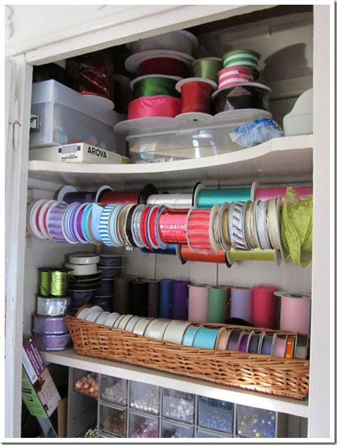 how to organize my crafts closet ribbon organization idea in my own style