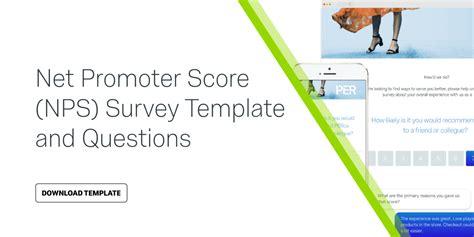 net promoter score survey template net promoter score nps survey template questions