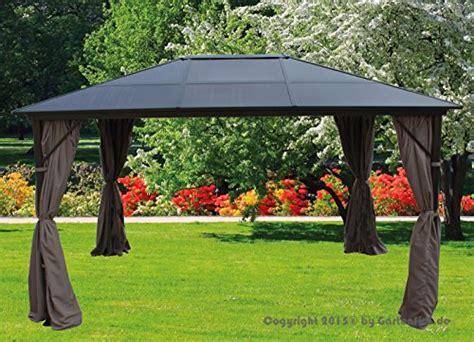 pavillon 3x4 m alu taupe dach polycarb m 214 bel24 - Pavillon 3x4 Alu