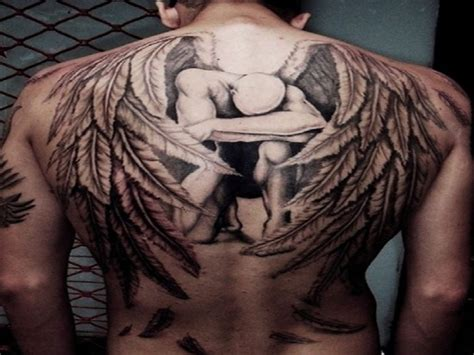 men back tattoos back wings www pixshark images
