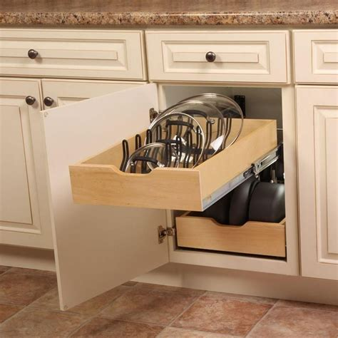 kitchen cabinet pot and pan organizers kitchen in cabinet pull out lid organizer neat storage