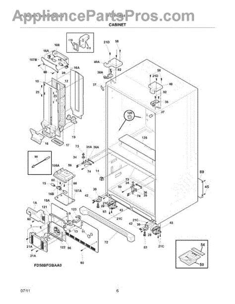 frigidaire gallery refrigerator parts diagram frigidaire 242072402 insulation air duct
