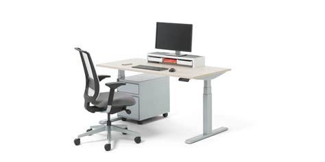 migration electric height adjustable standing desk steelcase