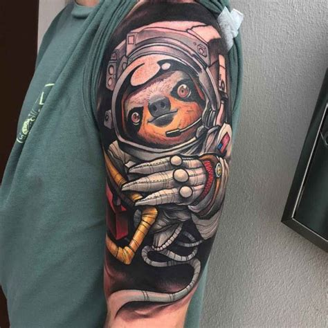 sloth astronaut tattoo best tattoo ideas gallery