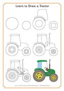 Learn to draw a tractor log in or become a member to download