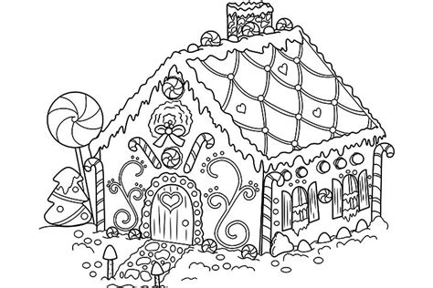 Free Gingerbread House Coloring Pages printable gingerbread house coloring pages coloring me