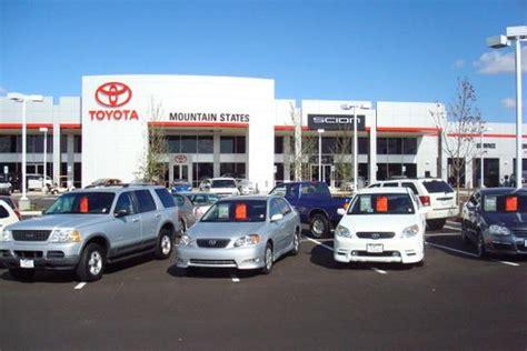 Colorado Toyota Dealers Mountain States Toyota Denver Co 80221 Car Dealership