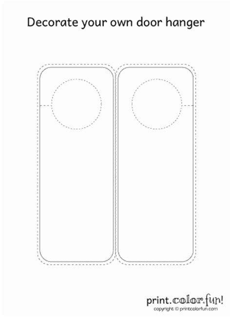 door hanger templates for pages free blank door hanger coloring pages