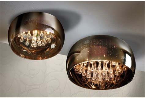 Glass Shade Crystal Droplet Pendant Glass Droplet Ceiling Light
