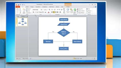How To Make A Flow Chart In Powerpoint 2010 Youtube How To Make A Flowchart In Powerpoint