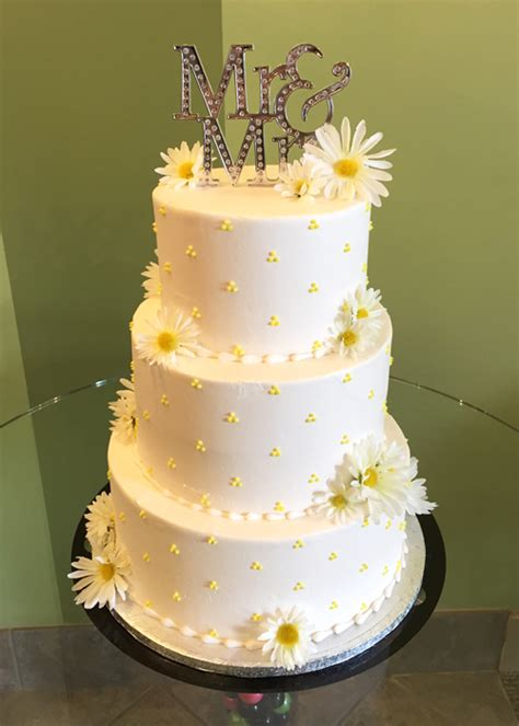 Swiss Dot Wedding Cake Cl Y Cupcakes