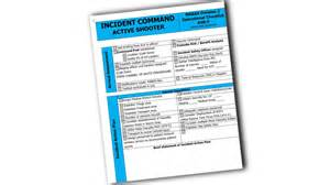 incident command active shooter operational checklist
