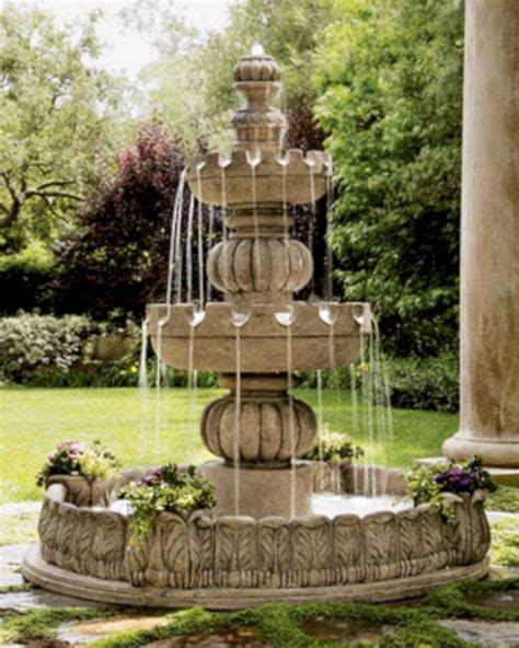 beautiful water fountains ideas for your front yard 28