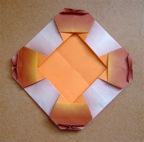 Origami Frames - origami frame with cat origami cat frame one