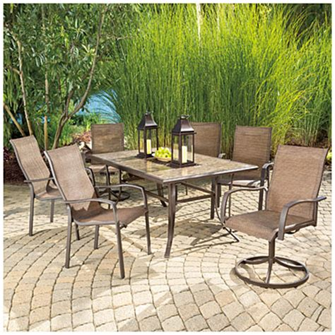 Big Lots Patio Table View Wilson Fisher 174 Chesapeake 7 Dining Set Deals At Big Lots