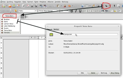 membuat kop surat dengan open office cara membuat garis double pada kop surat libreoffice