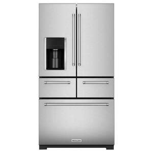 kitchenaid 36 in w 25 8 cu ft door refrigerator