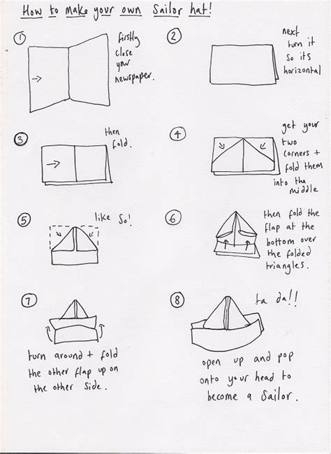 How To Make Paper Sailor Hat - 21 creative ways to make a hat out of a newspaper guide