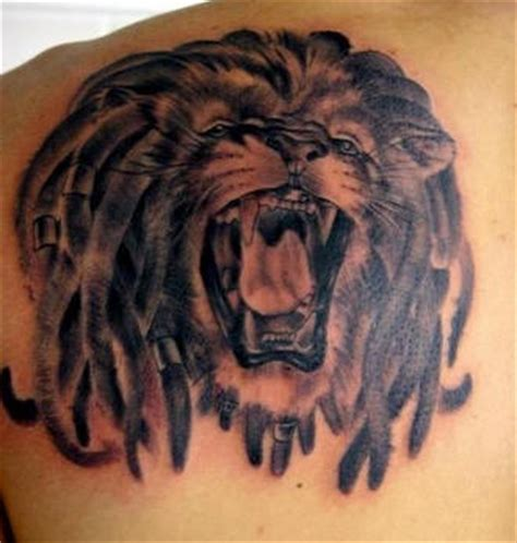 rasta lion with dreadlocks tattoo tattooimages biz