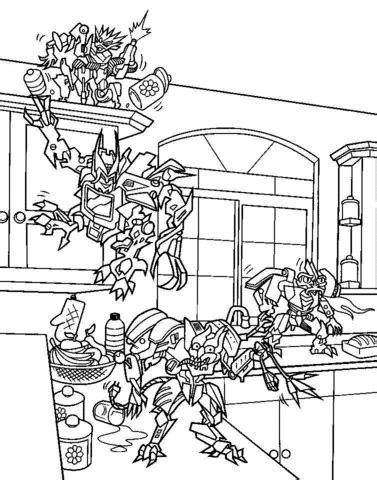 minecraft transformers coloring pages coloriage petits espions de m 233 gatron coloriages 224