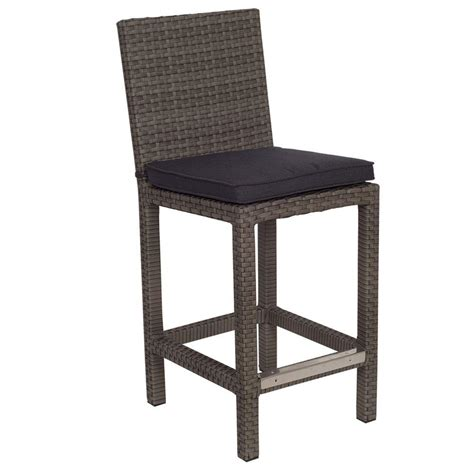 bar stool outdoor hton bay rehoboth dark brown wicker outdoor bar stool