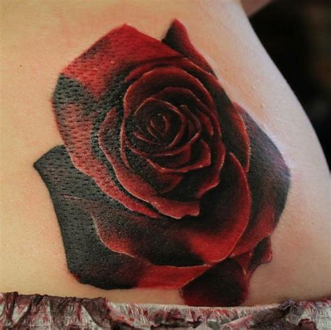 black and red rose tattoo black and tattoos
