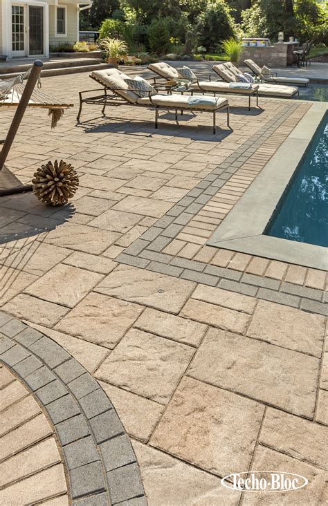 Patio Pavers Techo Bloc Techo Bloc Patio Pool