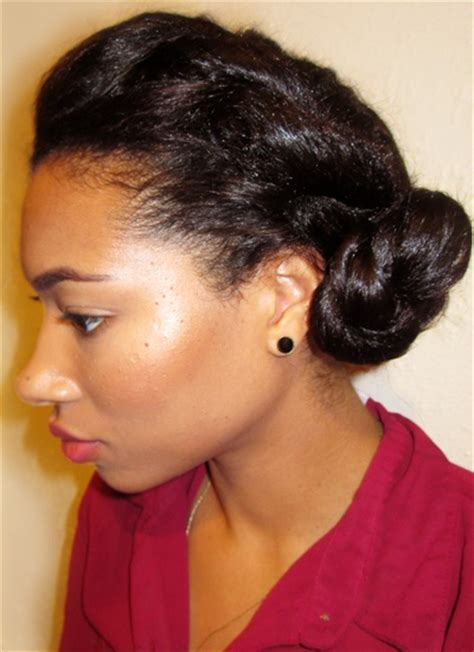 heatless hairstyles for relaxed hair 31 best relaxed hairstyles buns images on pinterest