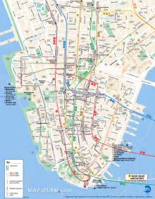 Map Of New York City Attractions by New York City Tourist Images