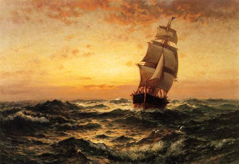 nautical painting famous sailing ship paintings 19th century american