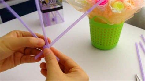 cara membuat bunga dari kertas plastik cara membuat bunga dari sedotan