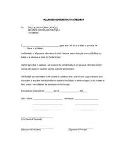 7 Free Confidentiality Agreement volunteer confidentiality agreement 10 free word pdf