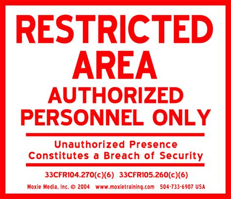 restricted areas aluminum restricted area signs
