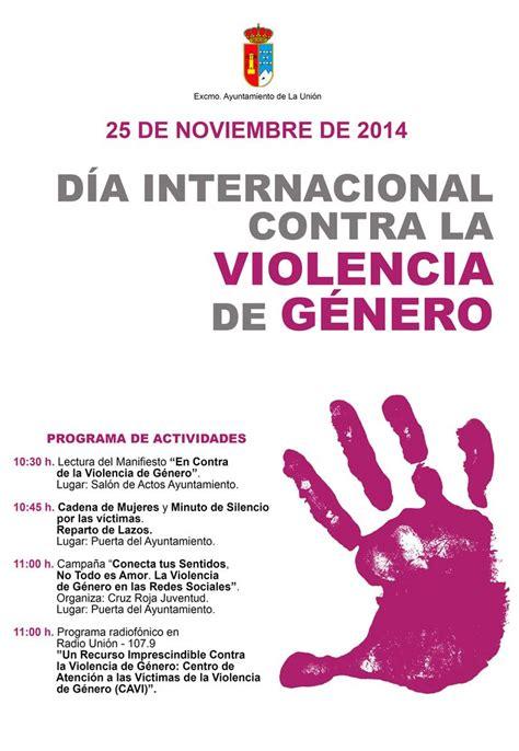 imagenes relacionadas con violencia de genero invitaci 211 n a los actos del d 205 a internacional contra la