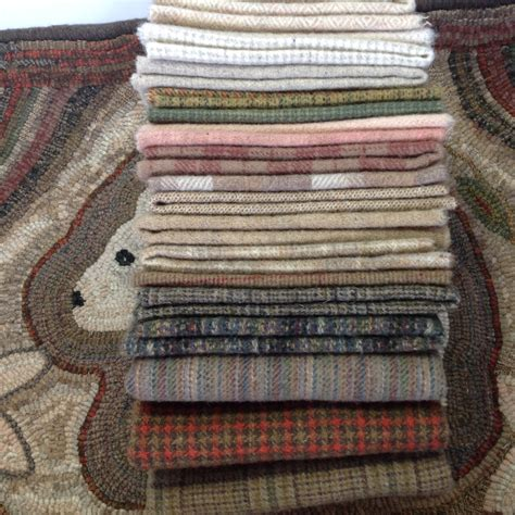 Wool For Rug Hooking by Wool Pack For Primitive Rug Hooking And Applique Wp203