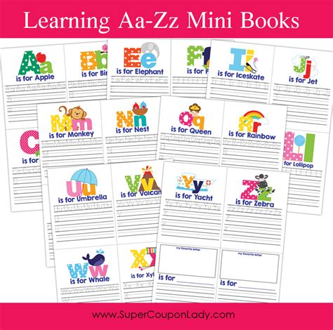 books printable for free learning a z mini books coupon