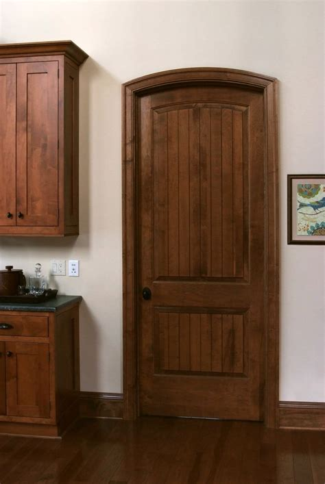 Interior Cherry Doors Solid Maple Sante Fe 8 Ft Interior Door With Traditional Cherry Stain And Semi Gloss Finish