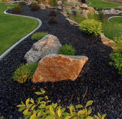 awesome rock landscaping ideas backyard  work