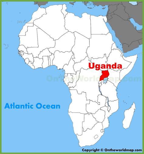 uganda on world map uganda location on the africa map