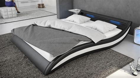 lit eclairage led lits en cuir design mobilier cuir