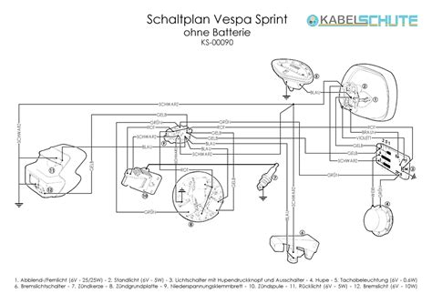 vespa sprint wiring diagram 27 wiring diagram images