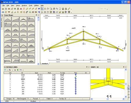 roof truss design software steel roof truss design mitek 20 20